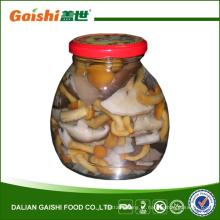 conservas de cogumelos mistos salgados em salmoura