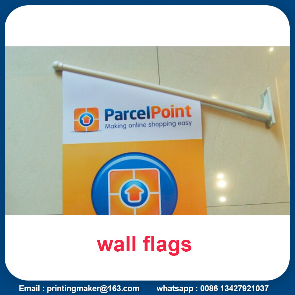 Wall Mount Double Sided Printed Flags Banners