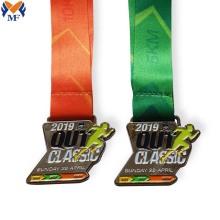 Medalla de premio de aleación de zinc metal plateado