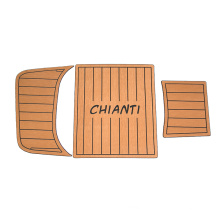 Light Brown Faux Teak marine foam boat decking with eva material