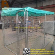 Perrera de perro galvanizada sumergida caliente del perro de la cerca del perro