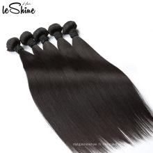 Extensions de cheveux de nadula frisées blanchies non colorées non transformées