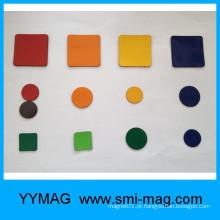 Ímãs de borracha flexível colorida