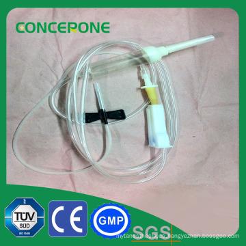 Tubo desechable médico fluido 3 vías