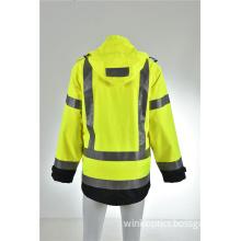 Hi viz breathable waterproof hood bomber pilot safety jacket