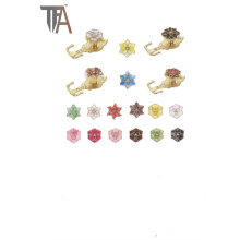 Belle conception pour crochet de rideau de fleurs