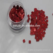 Polvo de brillo láser rojo