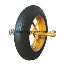 Les roues en caoutchouc 14X4 roule 14 roues en caoutchouc de poudre pour le chariot de brouette