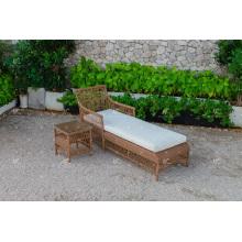 Poly Resin Rattan Sun Lounger Für Outdoor Garden Beach und Resort