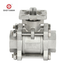 3PC ball valve with platform