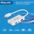 Câble adaptateur mini Displayport Dp vers HDMI / DVI / VGA / audio stéréo