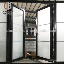 Custom new style exterior door side lite decorative glass swing door front aluminum doors design