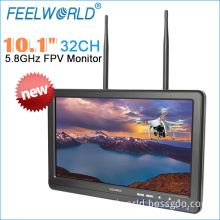 "Feelworld 10.1"" HD LCD 5.8GHz Wireless and Dual Receiver Monitor for Fpv Drones"