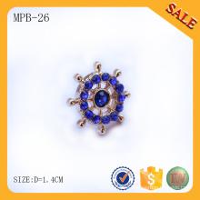 MPB26 Лир бесплатно круглый дизайн металлический значок горный хрусталь для мешка