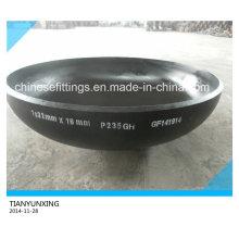 Dn1000 acero al carbono DIN28013 cabeza elipsoidal