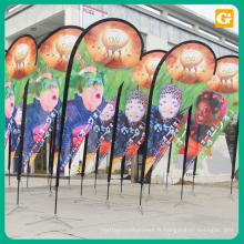 Drapeaux de plage de drapeau de plume de drapeau de plume de drapeau de vol pour la publicité