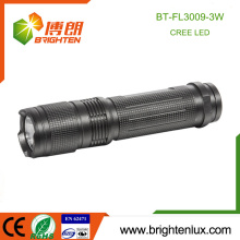 Factory Hot Sale 3*AAA Battery Operated Metal Material Best Bright USA Cree XPE 3W led Pocket Flashlight