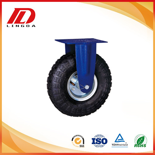 10'' industrial caster with rigid pneumatic wheels