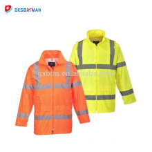 Light Weight Hi-Vis Waterproof Road Safety Jacket Reflective Workwear Walking Cycling Coat