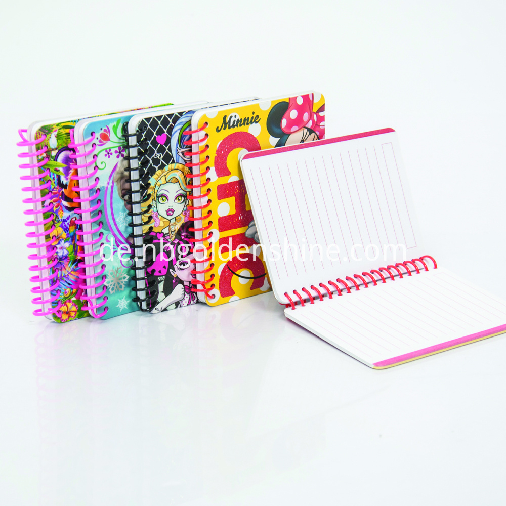 Mini Glitter Pocket Notepad With Color Label