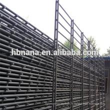 Clôture de fil de double boucle d'ornement de PVC / double barrière soudée horizontale de fil / double clôture de grillage de fil