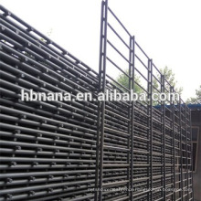 PVC ornament double loop wire fence /double horizontal welded wire fence / Twin Wire Mesh Fence