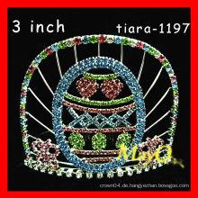 Großhandel farbigen Rhinestone Festzug Krone und Tiara