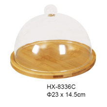 Bamboo Cheese Board With Glass Dome