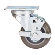 76mm Medium Duty Caster with Side Brake