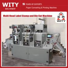 Multi Station Wine Label Foil Stamp and Die Cut Machine (Structure intelligente, estampage de position)