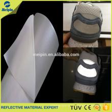 Material reflectante del cuero de la PU del alto lustre para los zapatos o los bolsos que se divierten