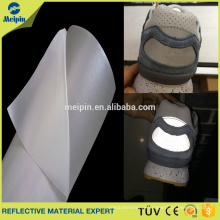 High Luster Silver Reflective PU Leather Material For Sporting Shoes or Bags