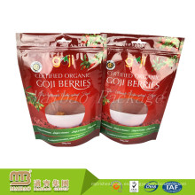 En forma de ventana personalizada impresa de pie Up Doypack embalaje de grado alimenticio transparente