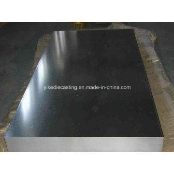 Fuente de fábrica galvanizada placa de acero para techos