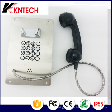 Téléphone en acier inoxydable à bouton en métal Téléphone d'urgence Knzd-07A