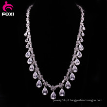 Fine Jewelry China Fabricante AAA Pedra Colar