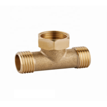 Manufacturer wholesale brass bathroom threaded  tee pipe fitting