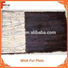 Placa de piel de visón de calidad superior