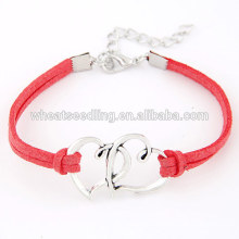 teenager personalized leather rope ladies models love bracelet 2016