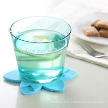 циновка чашки,циновка чашки силикона,циновка чашки коврик Таблица протектор в набор из 4