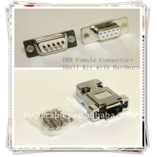 DB9 Connector DB9, RS232 9-контактный комплект для подключения разъемов с аппаратным обеспечением