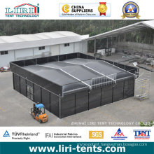Black Tent for Halloween Festival, Tent with Black Color for Events