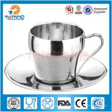 2013 nouveaux produits! Élégantes tasses à café et soucoupes en acier inoxydable