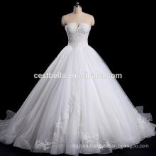 Sin tirantes de hombro V-cuello Organza vestido de boda taobao