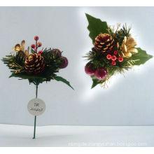 Plastic Decorative xmas ornaments Christmas gift Christmas picks
