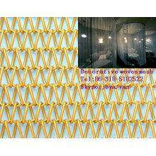 Pano de cortina de malha decorativa