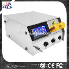 Stainless steel LED digital daul tattoo power supply