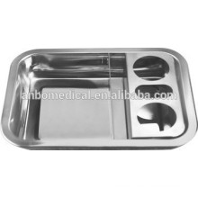 hospital nurse used stainless steel tray