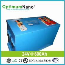 Energienbank 24V 600ah Lithium-Batterie für Sonnensystem