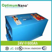 Paquet de batterie de 24V 600ah 15kwh LiFePO4 pour le système à la maison solaire